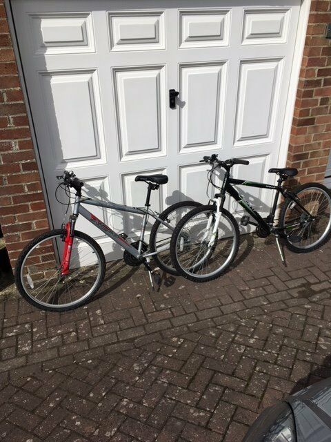 Two hardly used bikes suitable for teenagers 12 +   17