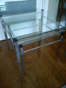 Chrome and glass nesting tables Kitchener / Waterloo Kitchener Area image 1
