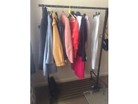 Ikea Clothes rail with shelf at the bottom, ideal for shoe storage
