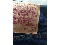 Levi jeans 501 size 30W 30L