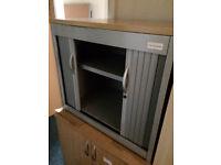 Small Tambour Cupboard Wood Top