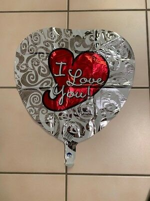 I Love You Helium Balloons (Lot of 7 I LOVE YOU Helium Foil Balloon)