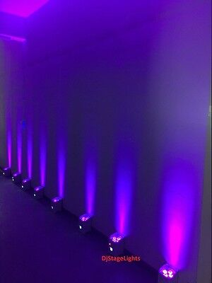 DJ PAR 4x18w LED LIGHTS 6 COLOR RGBWA+UV WIRELESS REMOTE DMX BATTERY STAGE SHOW
