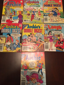 7 ARCHIE DIGEST LIBRARY BOOKS