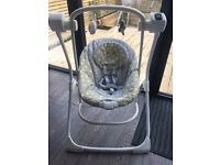 Graco 2 in 1 Baby automatic Swing/Rocker - Grey - Excellent Condition