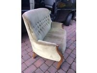 Pretty two seater bedroom chair / sofa
