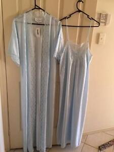 Long Blue Nightie & Dressing Gown AND Short Green Nightie & Gown Ferryden Park Port Adelaide Area Preview