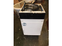 45 cm Electrolux integrated dishwasher. Used in good working order. Model ESL 43010.