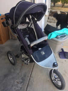 Valco Baby Stroller with Toddler Seat and accessories