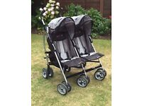 Baby Double Buggy EASYGO DUO COMFORT TWIN STROLLER FOR SALE - EXCELLENT CONDITION
