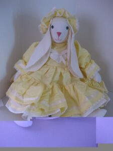 Bunny in a yellow dress