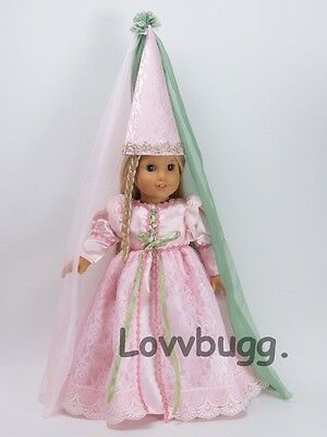 Fairy Tale Princess Costume with Nice Hat for 18 inch Doll Clothes American Girl