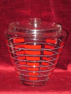 ausgefallene 50er Jahre Bowle Glas fifties ANSCHAUEN!