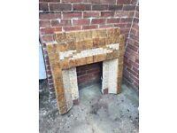 Fireplace Surround - Cast iron, tilesd, Art Deco, 1950's