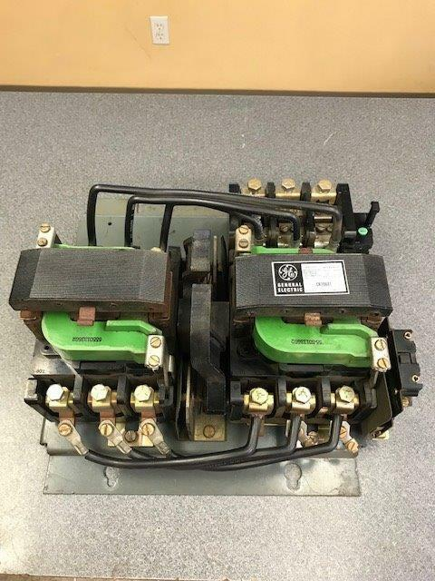 GE General Electric CR206E1 Size 3 Motor Starter 3 pole 600AC 90A