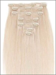 100% HUMAN HAIR,Blonde,CLIP IN Hair extension,7pcs set REMY Yellowknife Northwest Territories image 3