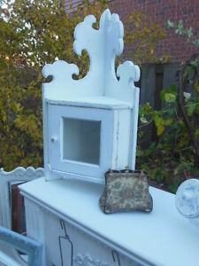 Small upper corner cabinet and hooked picture of maple sap London Ontario image 7