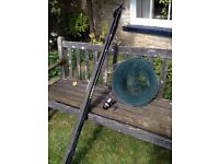 Fishing rod, net and reel, suitable for a young starter £10