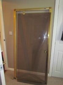 shower door and frame width 87cm hight 175cm door swivels