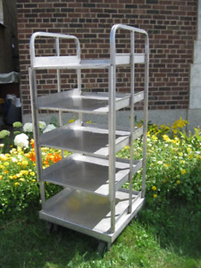 Stainless Steel Shelves- Set of Five.