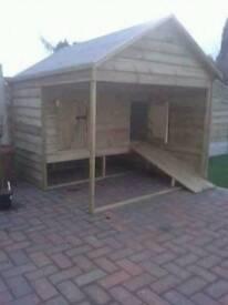 dog hut and runs