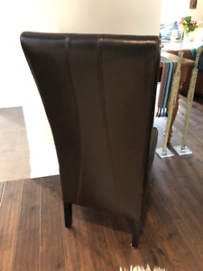 High-Back Leather Dining Chairs for Sale
