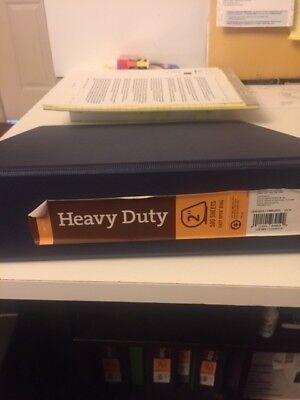 Inplace Heavy Duty D Ring Binder 2 Rings 8 12 X 11 500 Sheet Capacity Blue