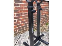 Adjustable Squat Barbell Power Rack, Bench with Barbell and 20 kg weights (sold as a set only)