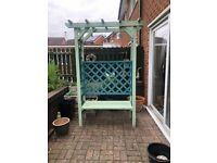 Lovely arbour/ garden seat
