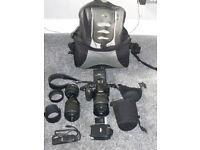 Nikon D3100 Camera Kit incl 3 lenses, 2 batteries and loads more.