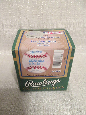 Rawlings American Pastime Collection Lee MacPhail AL Baseball Factory Sealed