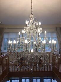 Large Swaroviski Chandelier 22 bulbs