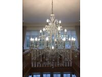 Large Swaroviski Chandelier 22 bulbs