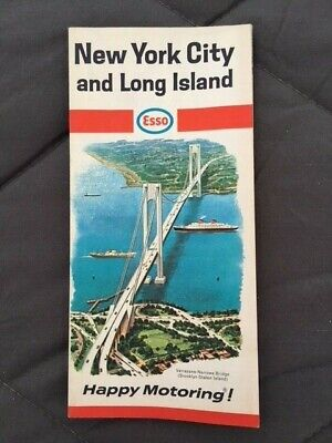 1967 ESSO map of New York City and Long