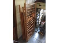 Traditional wooden cot