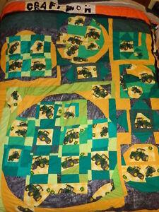 Quilt, Bedspread, Tractors