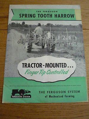 MASSEY FERGUSON SPRING TOOTH HARROW Brochure jm