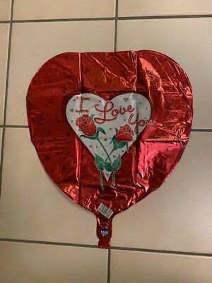 I Love You Helium Balloons (Lot of 4 I LOVE YOU Helium Foil Balloon)