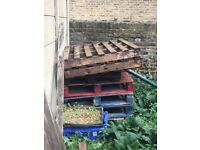 FREE wooden pallet boards (6) - collection Walthamstow village