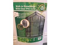 Walk-in Growhouse with Clear PVC Cover