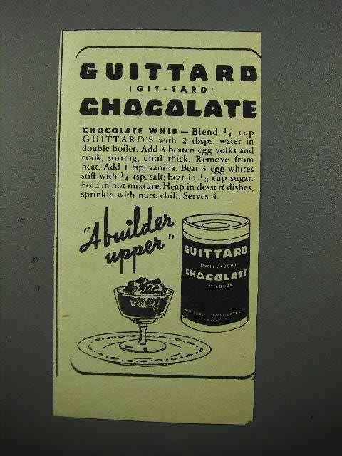 1944 Guittard Chocolate Ad