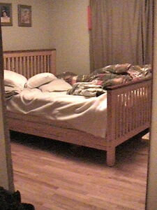 Pine wood Queen Size Bed Frame
