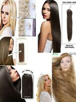 "Virgin Remy Human Hair extensions,Silky, Micro loop 26"", 24''"
