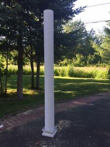 Outdoor  8 Foot White Column