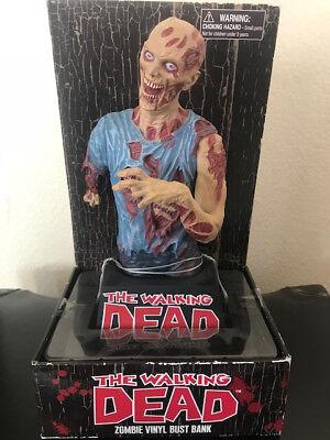 The Walking Dead Zombie Vinyl Bust Bank Diamond Select In Box