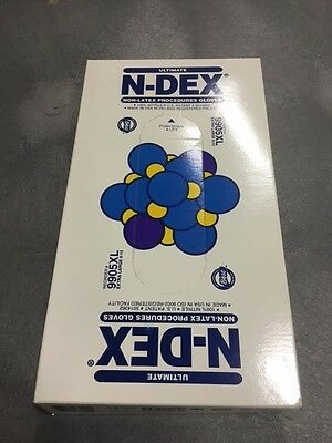 SHOWA BEST N-DEX NITRILE NON-LATEX PRODCEDURE GLOVES XL B9905PF BOX OF