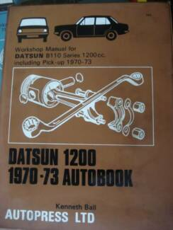 DATSUN 1200 B110 series 1200cc INC' PICKUP 1970-73WORKSHOP MANUAL Dianella Stirling Area Preview