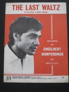 ENGELBERT-HUMPERDINCK-60s-Sheet-Music-THE-LAST-WALTZ-By-Les-Reed-Mason