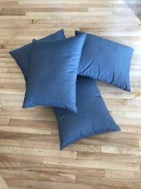 4 x Dark Grey Scatter Cushions