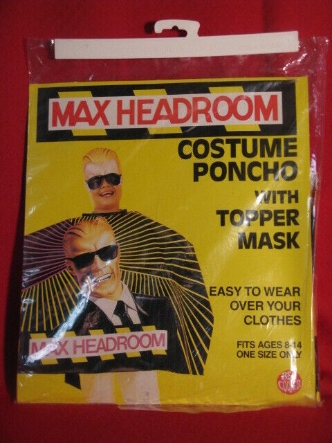Max Headroom Ben Cooper Halloween Costume NEW UNUSED IN PACKAGE COCA COLA